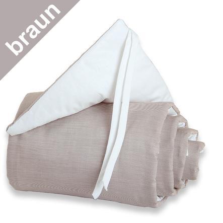 TOBI BABYBAY Protector de cuna Midi/Mini marrón/blanco