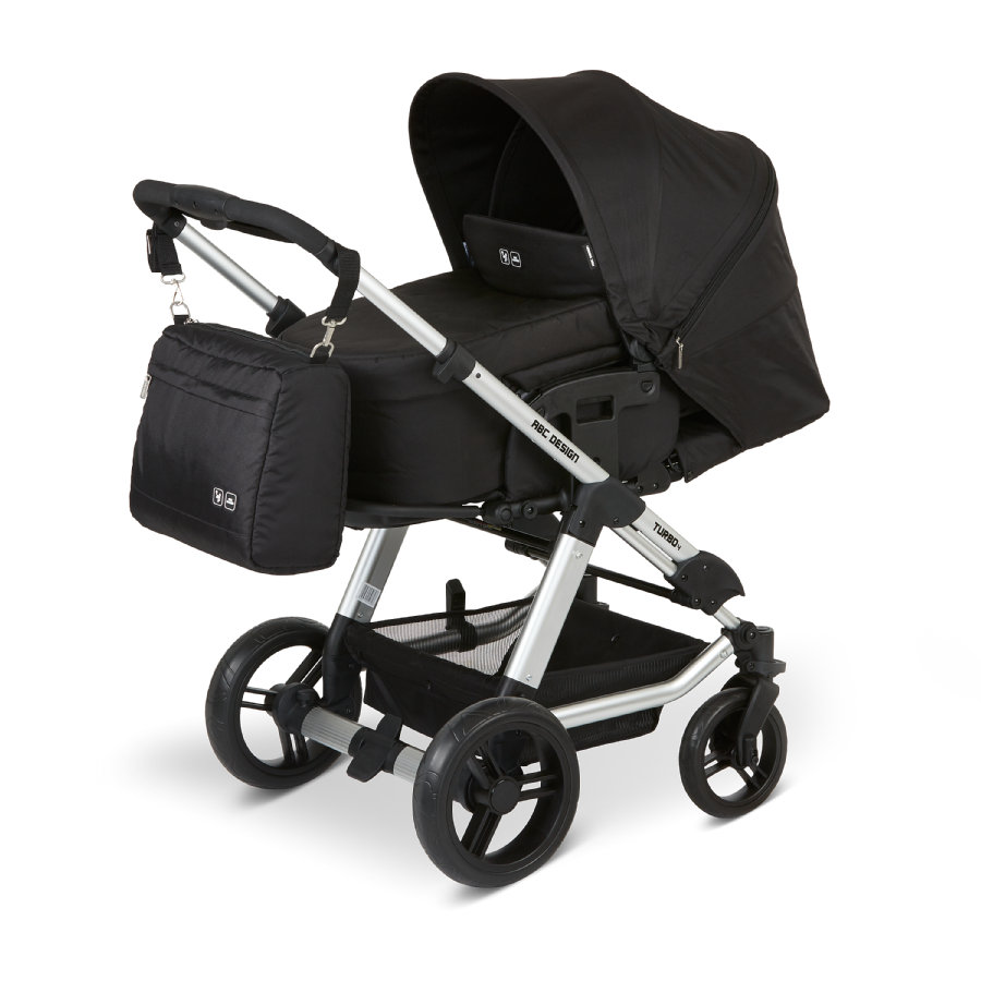 ABC DESIGN Combikinderwagen Turbo 4 inclusief accessoireset Black