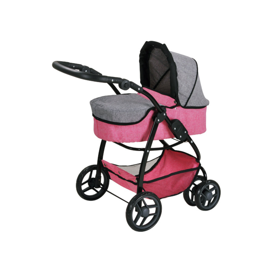 knorr® toys Poppenwagen Coco - Jeans pink