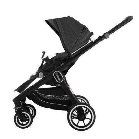 Emmaljunga Kinderwagen NXT 60 Flat Black/Lounge Black