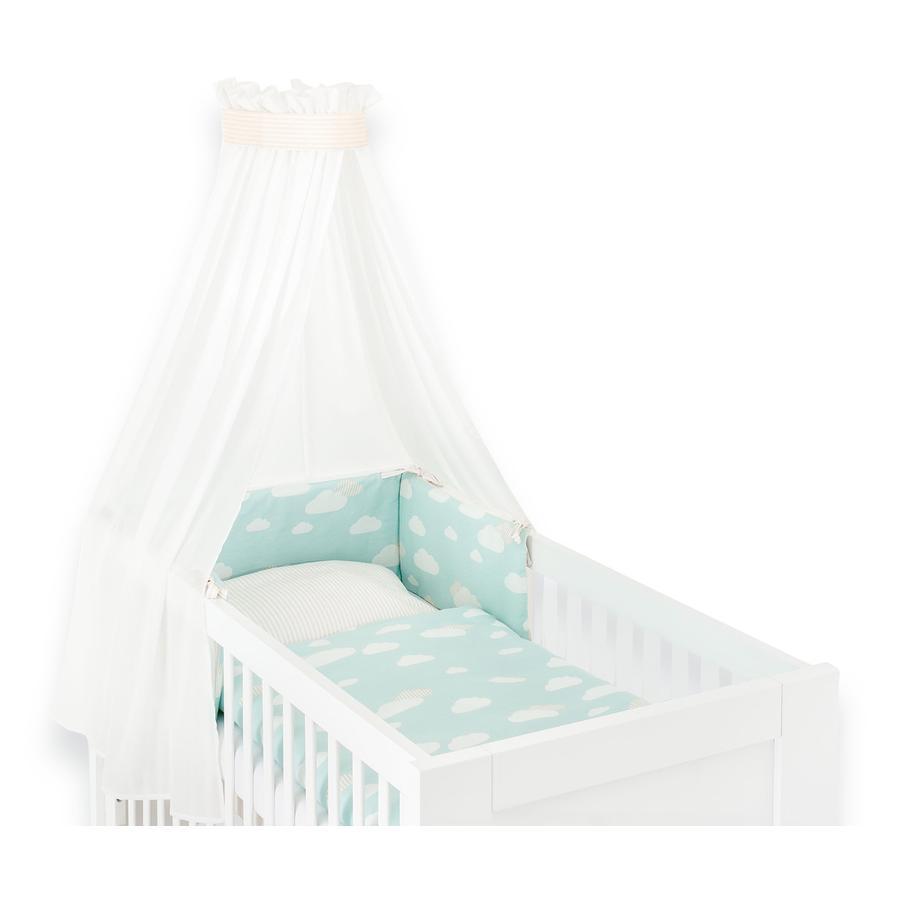 Träumeland Parure de lit enfant 3 pièces nuage menthe 100x135 cm