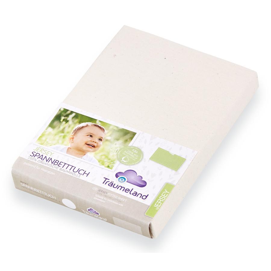 Träumeland Prześcieradło na gumce Tencel white 60x120 cm + 70x140 cm