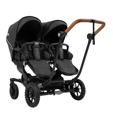 Emmaljunga Zwillingswagen NXT Twin Flat Black Outdoor AIR/Lounge Black