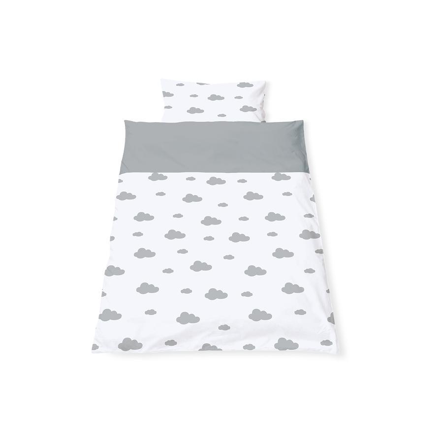 Pinolino vendbart sengelinned 100 x 135 cm lille skygrå