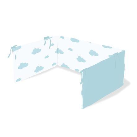 Pinolino Nestchen für Kinderbetten Wölkchen hellblau