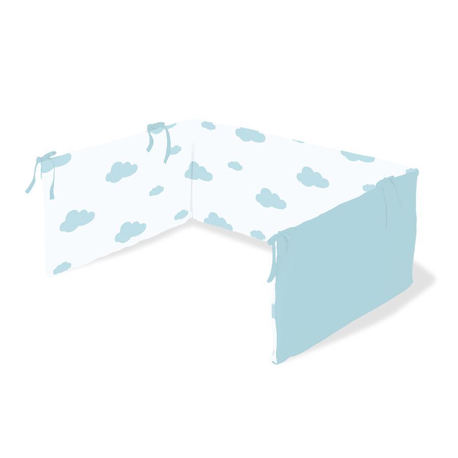 Pinolino Paracolpi per lettino, nuvolette, azzurro