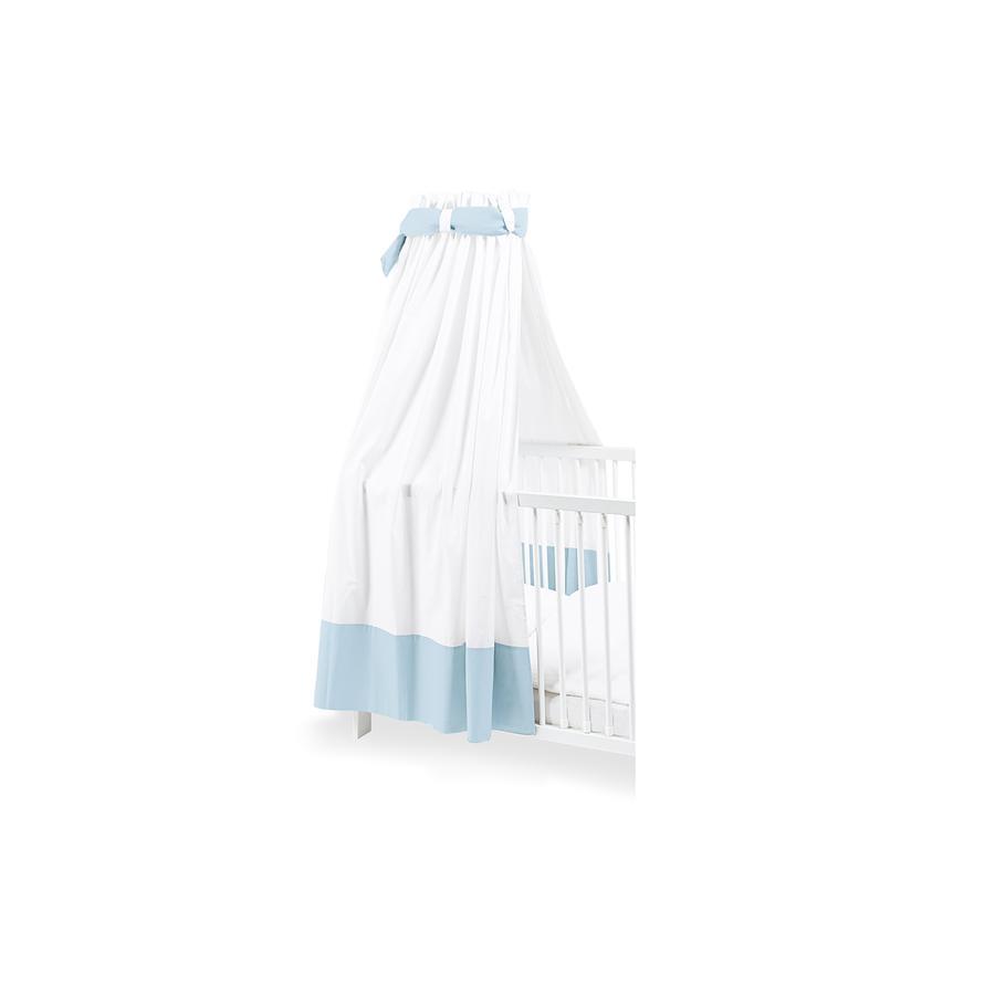 Pinolino Canopy pro dětské postýlky bílá / světle modrá