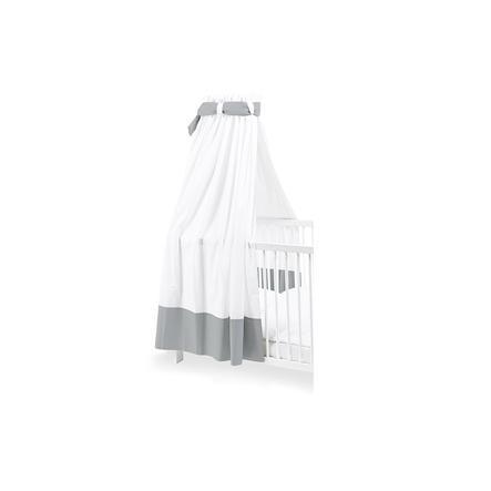 Pinolino Canopy pro dětské postýlky bílá / šedá
