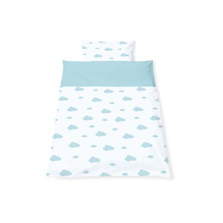 Pinolino Parure de lit enfant nuages bleu clair 40x60/100x135 cm