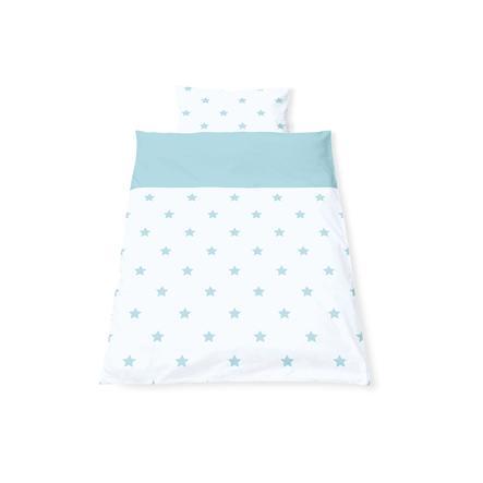 Pinolino Parure de lit enfant étoiles bleu clair 40x60/100x135 cm