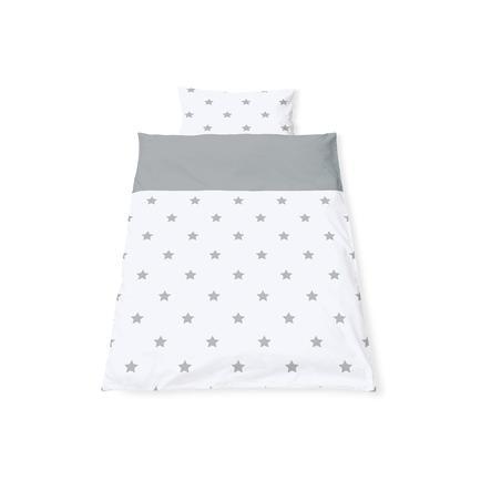 Ložní prádlo Pinolino oboustranné 100 x 135 cm hvězda šedá