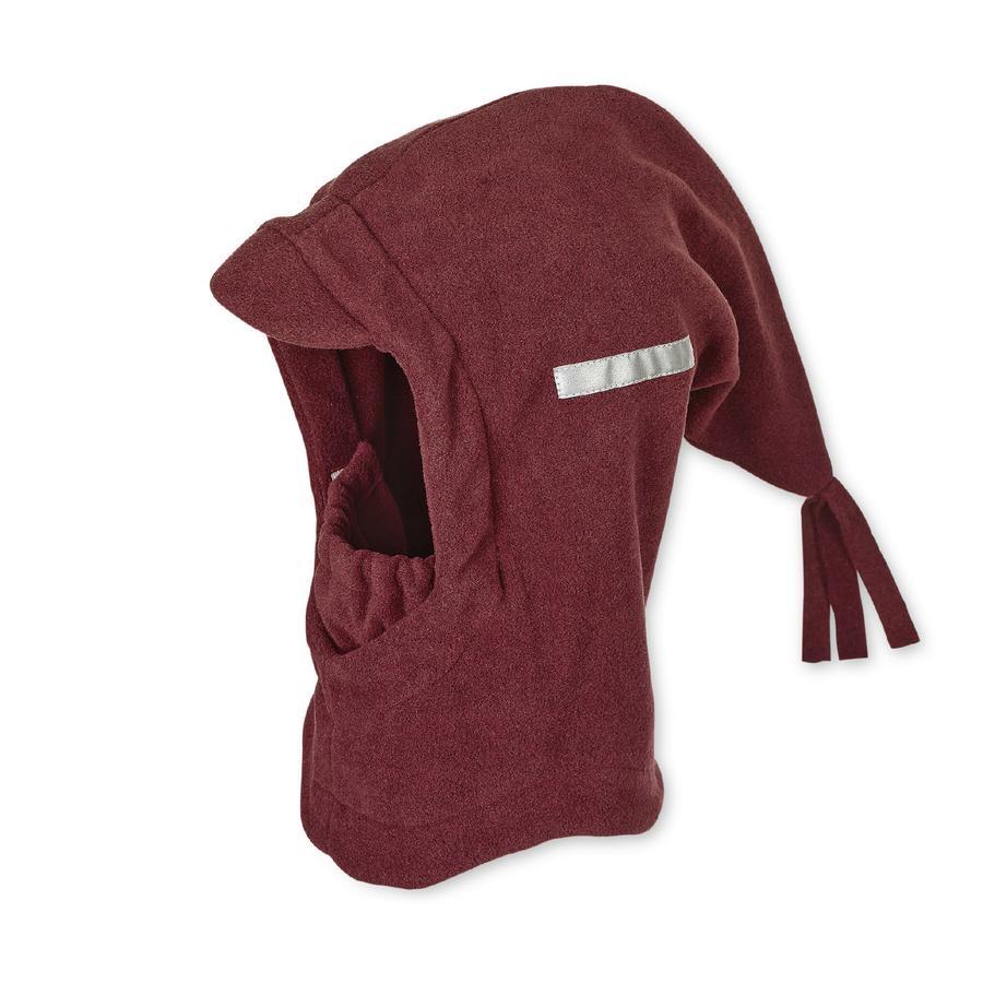 Sterntaler Chłopcy, czapka z szalikiem, ciemnoczerwony melanż.