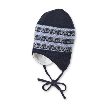 Sterntaler Cuffia a maglia per ragazzi marine