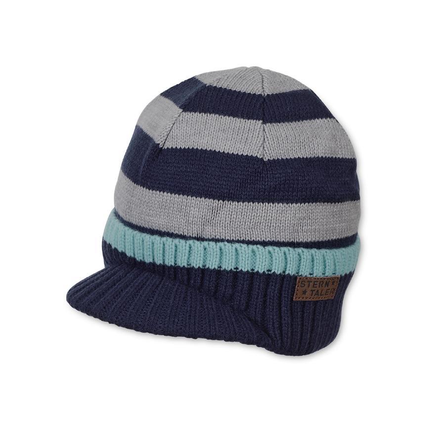 Sterntaler Cappuccio a maglia per bambini marine