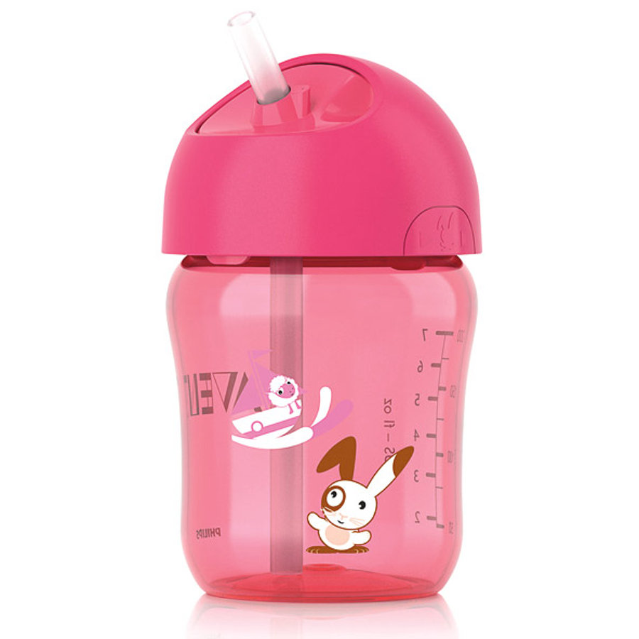 AVENT 260ml Straw Cup - Pink