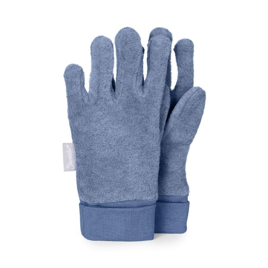 Sterntaler Vingerhandschoen Microfleece medium blauw