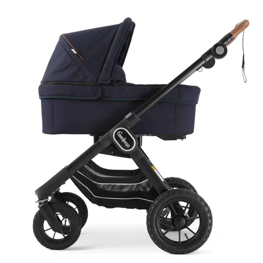 Emmaljunga Kinderwagen NXT 90 mit Wanne Black Outdoor AIR/Outdoor Navy