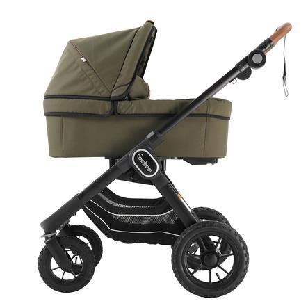 Emmaljunga Kinderwagen NXT 90 mit Wanne Black Outdoor AIR/Outdoor Olive