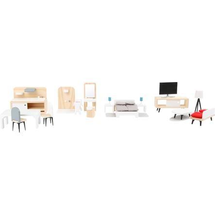 small foot  ® Doll's house möbler komplett uppsättning