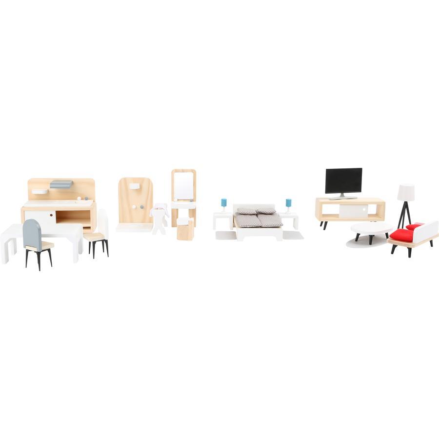 small foot nukke talo huonekalut täydellinen sarja