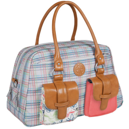 LÄSSIG Sac à langer Metro Bag Vintage Candy-striped