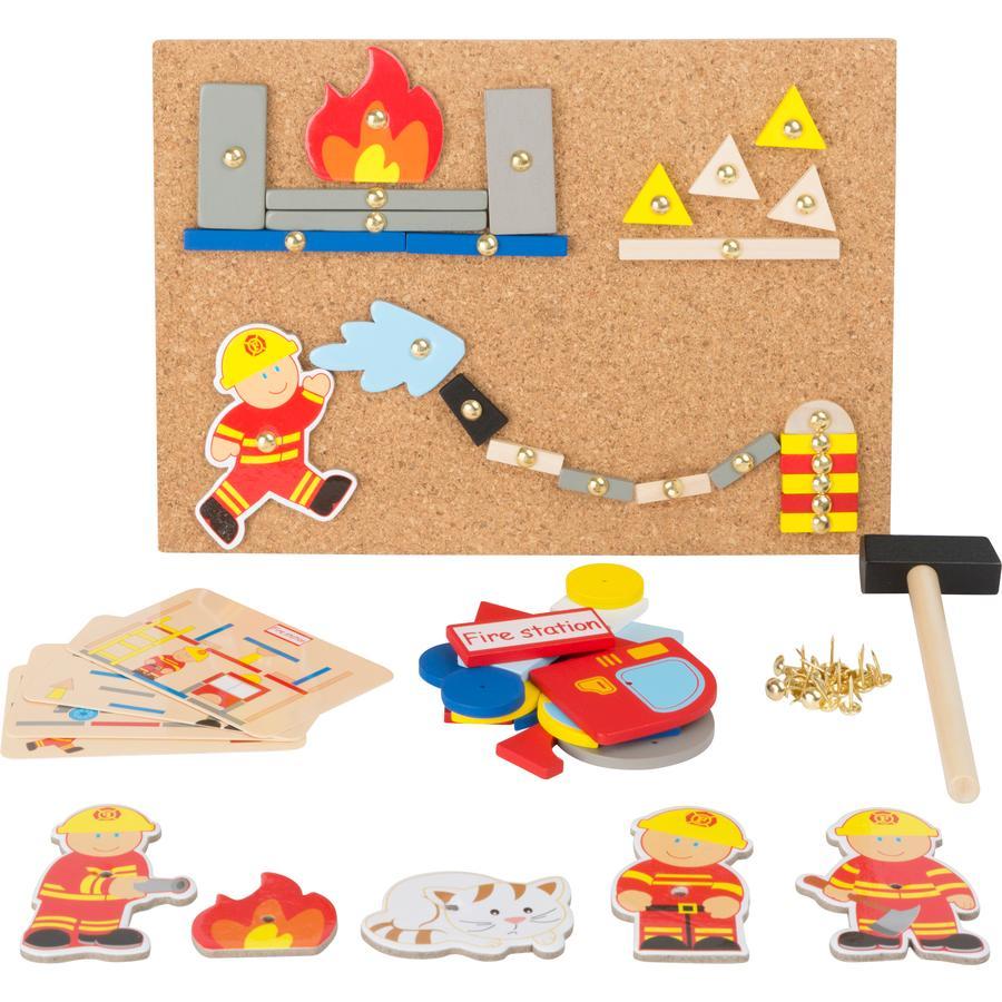 small foot® Planche à marteler pompier bois