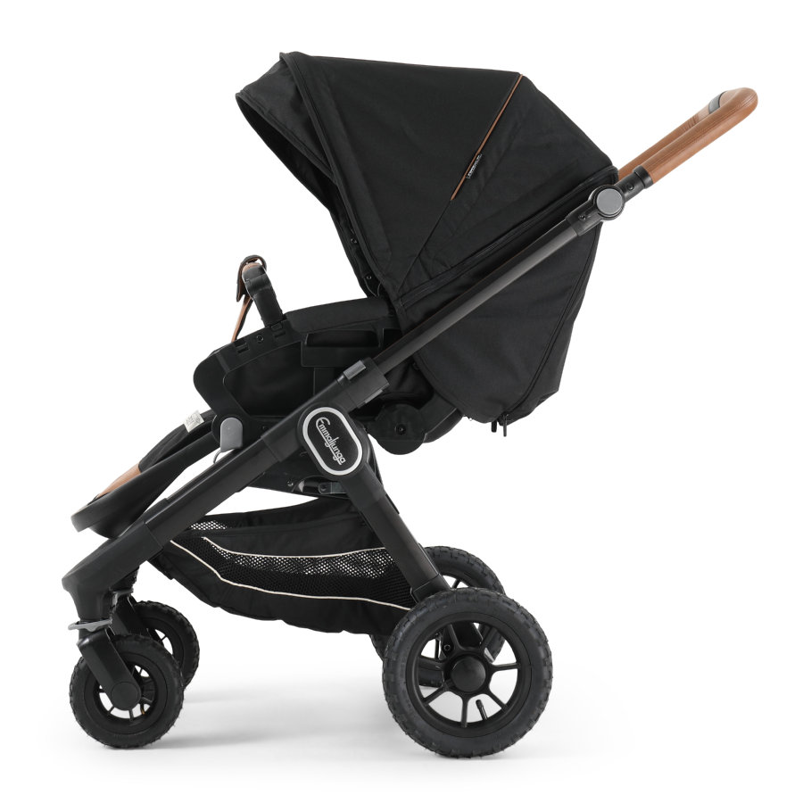 Emmaljunga Kinderwagen NXT 60 Flat Black Outdoor AIR/Outdoor Black