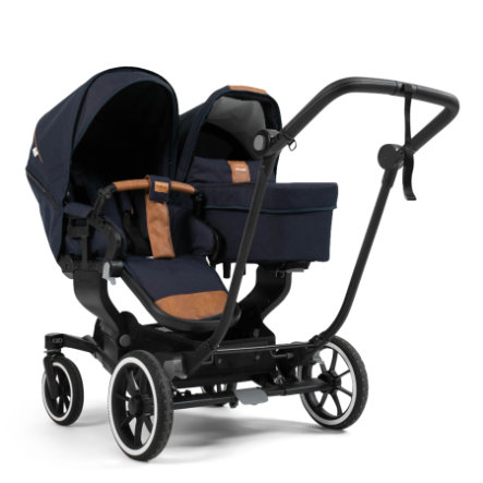 Emmaljunga Geschwisterwagen NXT Twin Black/Outdoor Navy