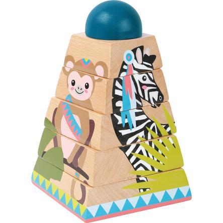 small foot  wieża z puzzlami kostkowymi Dżungla