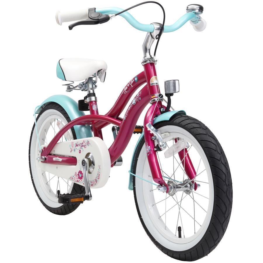 """bikestar Premium Rower 16"""", Cruiser Violett"""