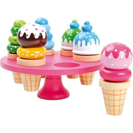 malá noha Zmrzlinový stojan s oplatkovou zmrzlinou