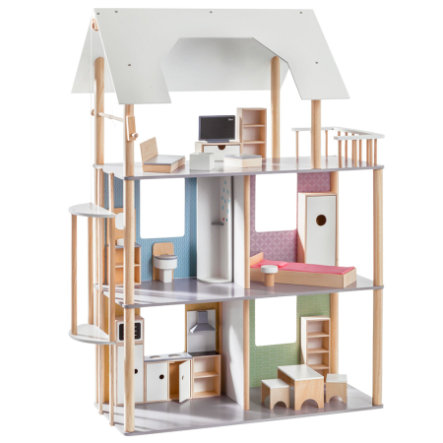 howa casa de muñecas para vestir muñecas de hasta 30 cm