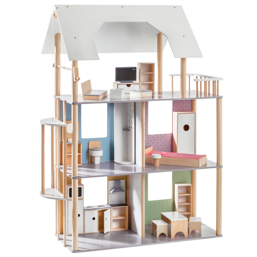howa® Puppenhaus für Ankleidepuppen