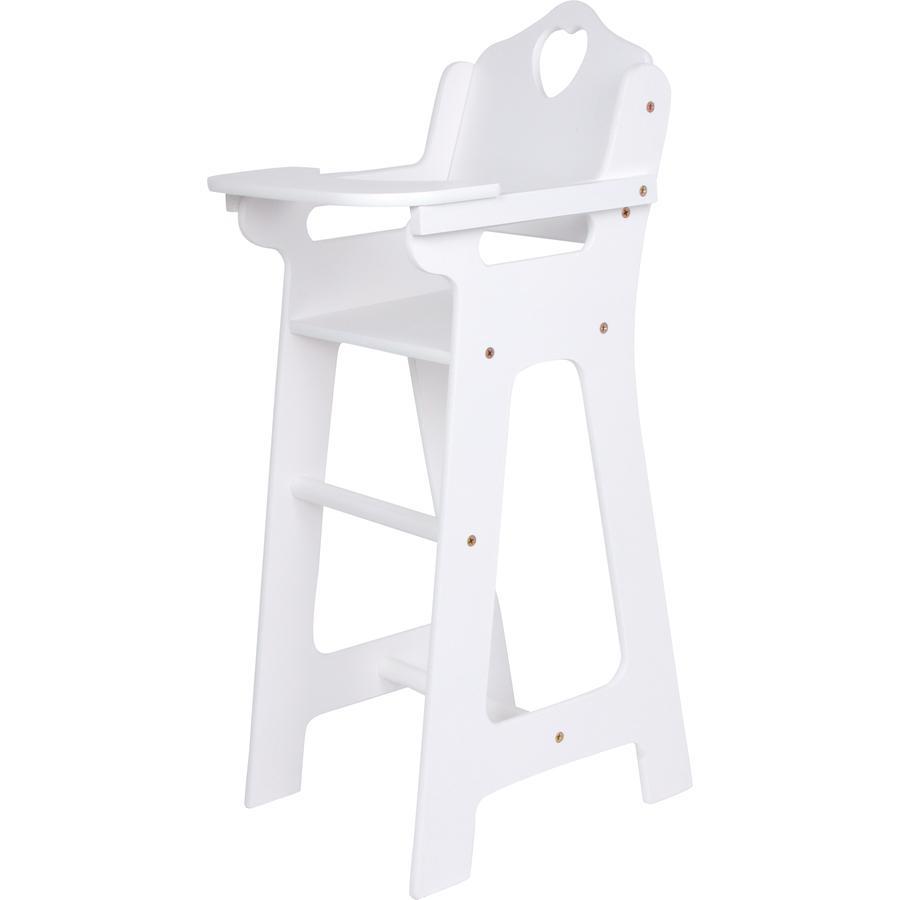small foot  ® Doll stol med fällbart bord, vit