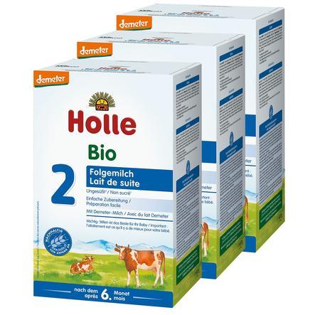 Holle Bio-Folgemilch 2 3 x 600 g