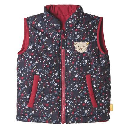 Steiff Girls veste réversible, rouge betterave