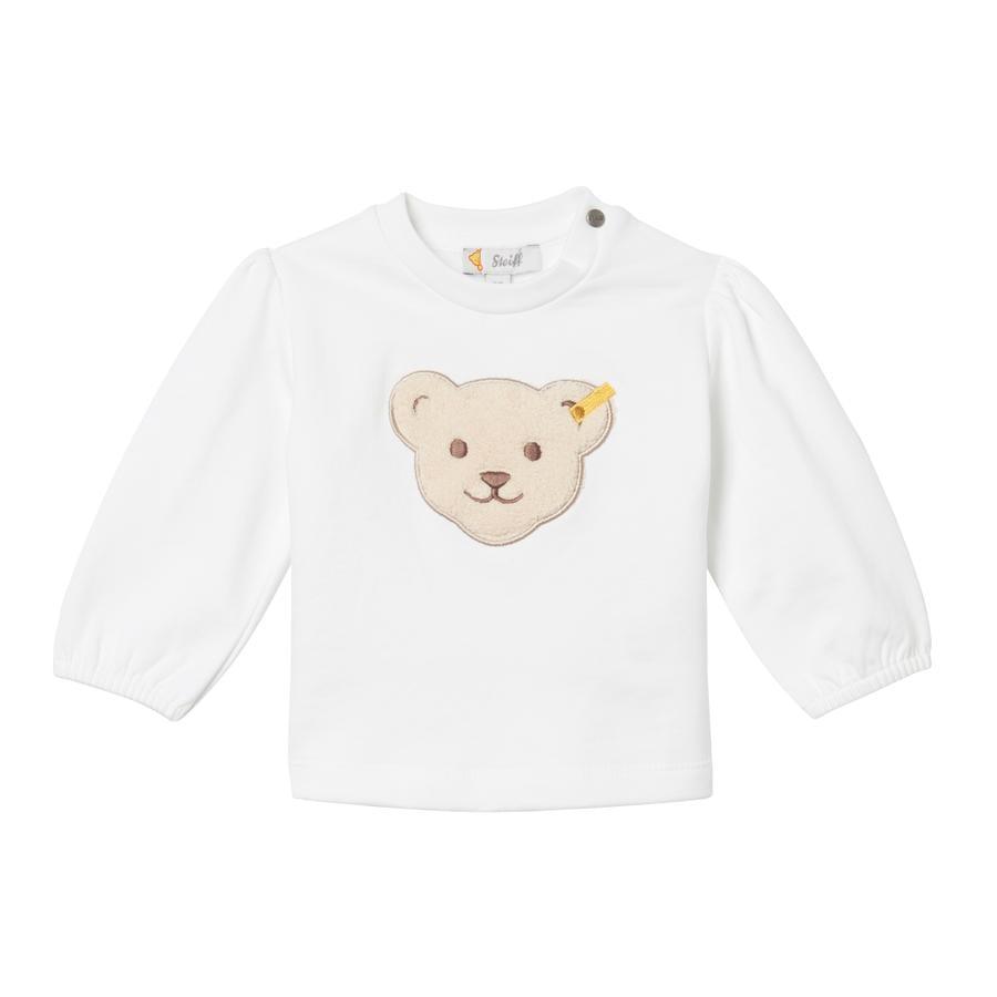 Steiff Girls Sweatshirt, bright white