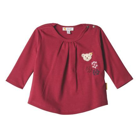 Steiff Girls Koszula z długim rękawem, czerwony buraczany.