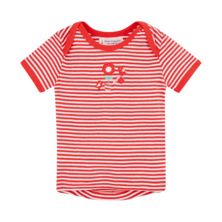 SENSE ORGANICS Boys Baby Tričko TILLY red stripes
