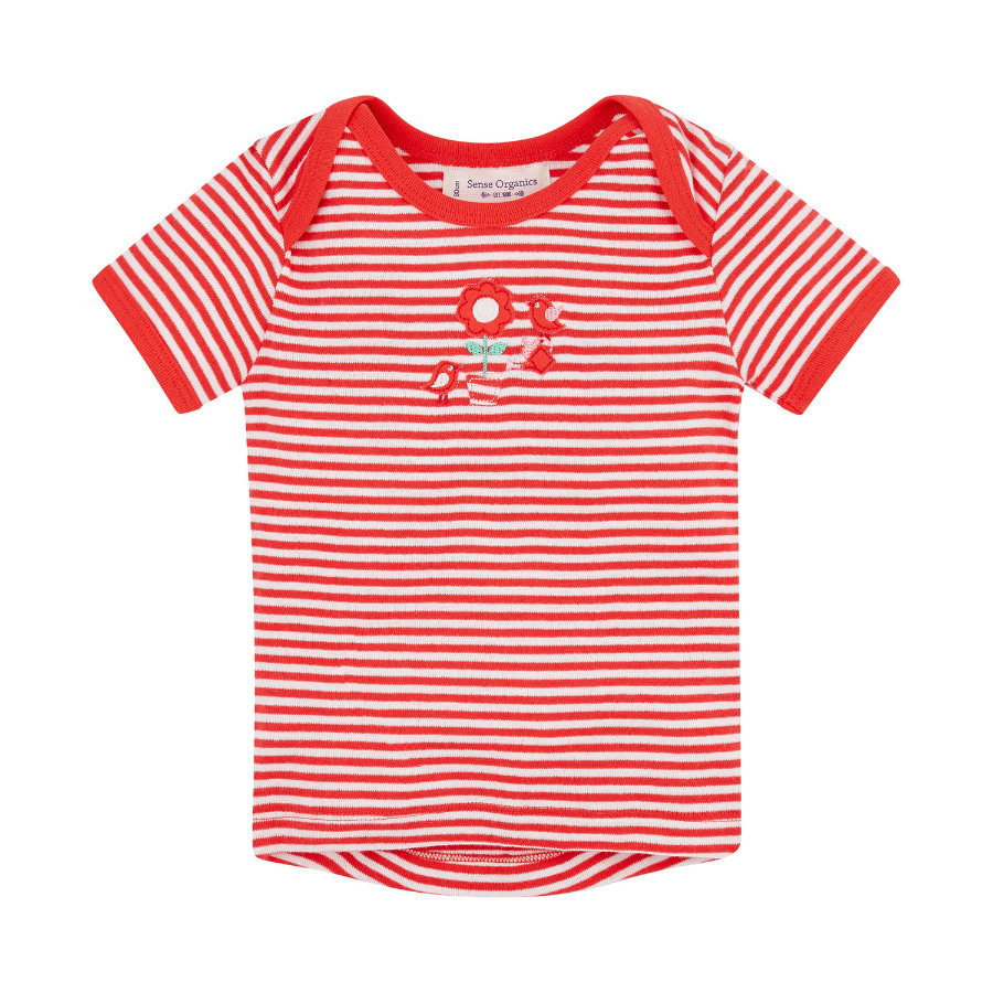 SENSE ORGANICS Girls Baby T-Shirt TILLY red stripes