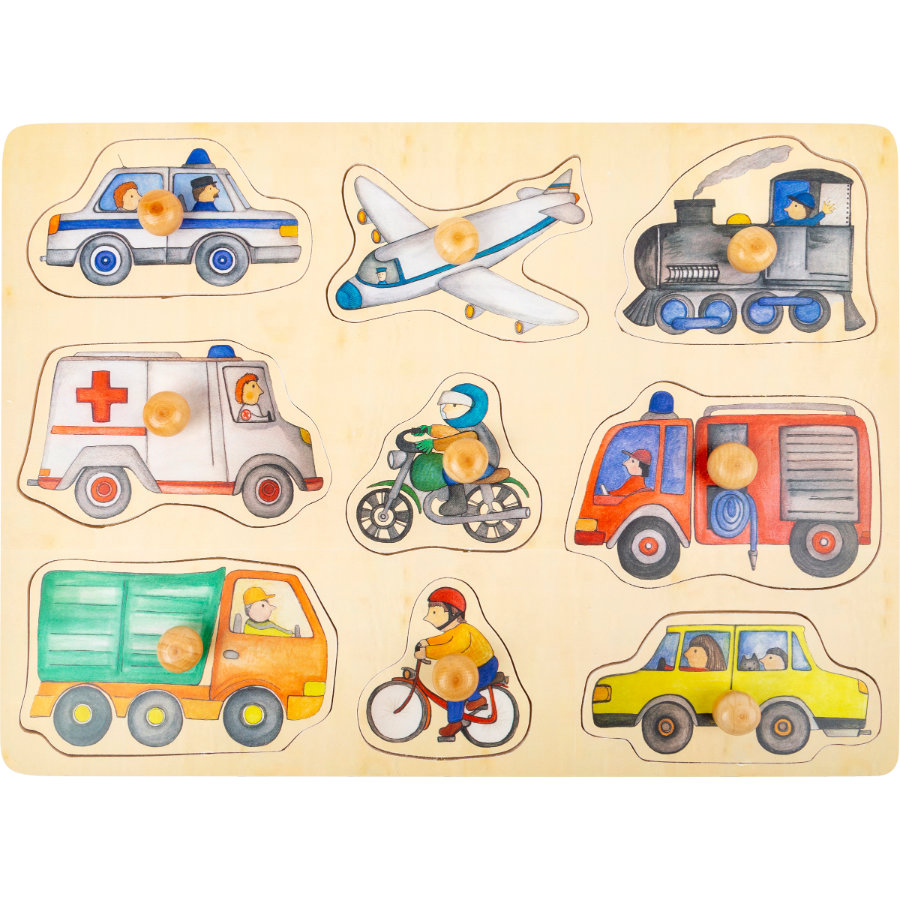 small foot® Puzzle véhicules de ville bois 9 pièces