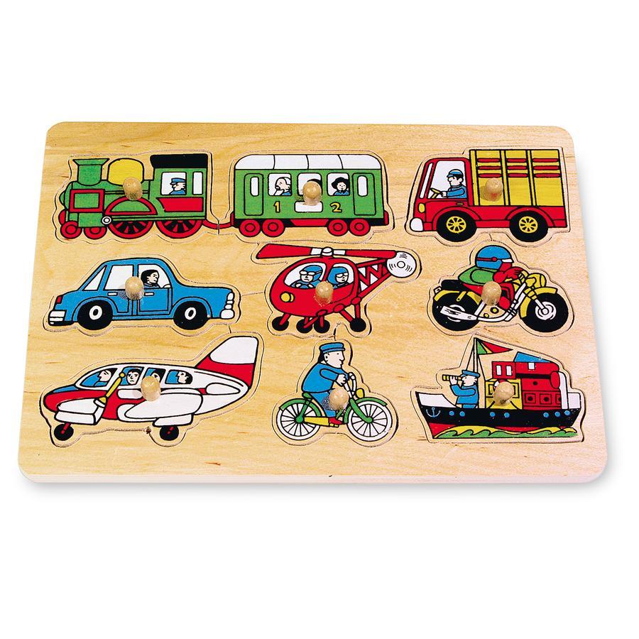small foot® Puzzle véhicules, bois 9 pièces