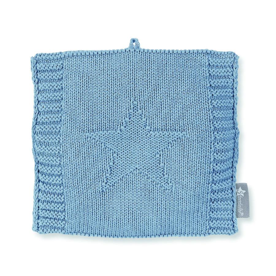 Sterntaler Pletená oteplovací taška modrá