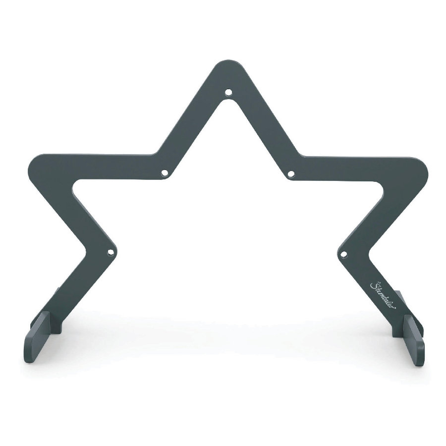 Sterntaler Play bow star dřevo tmavě šedá