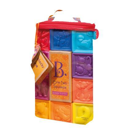 B. hračky - stavební kameny One Two Squeeze