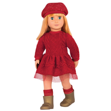 Our Generation - Puppen Vanessa Eve mit roter Kleidung, 46 cm