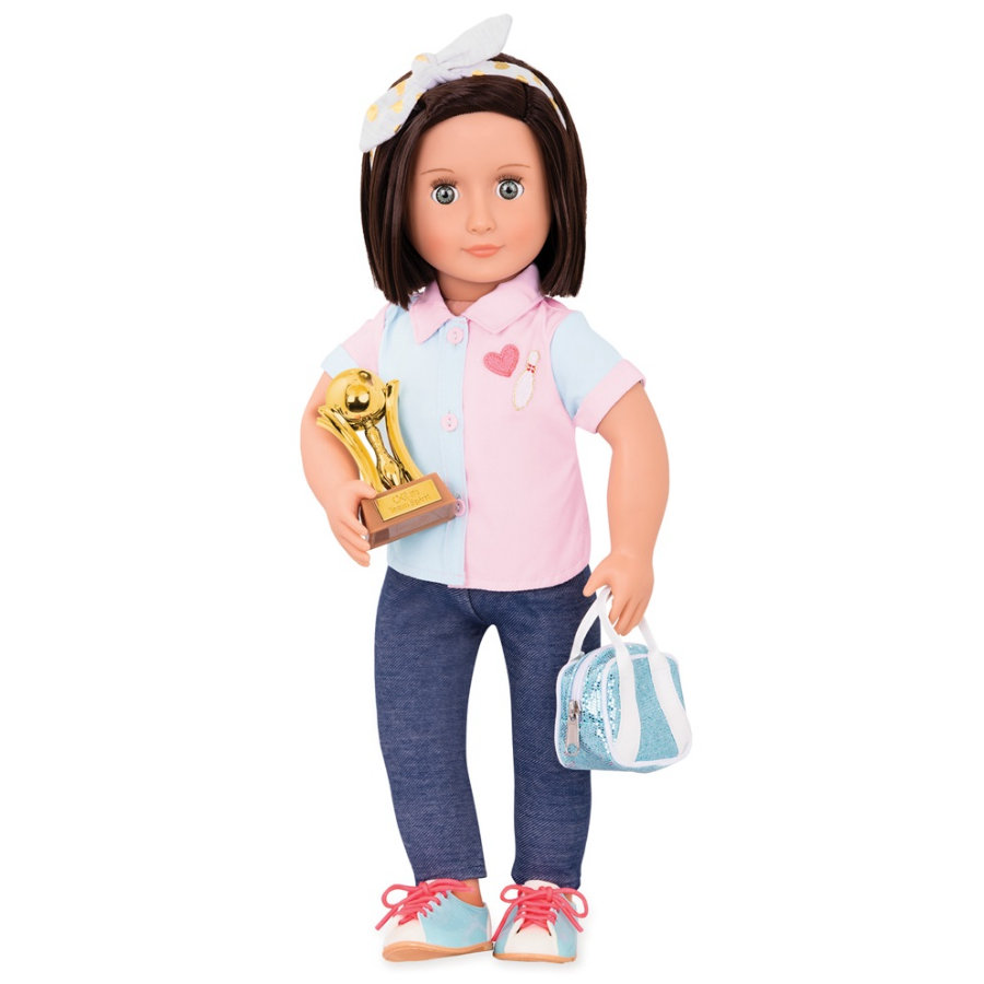 Our Generation - Muñeca Everly Deluxe Bowling , 46 cm