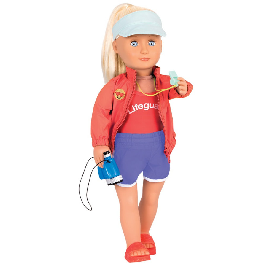 Our Generation - Puppe Seabrook Professional Lifeguard, 46 cm