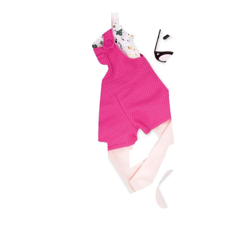 Our Generation -Outfit Kurze Latzhose mit Shirt und Brille