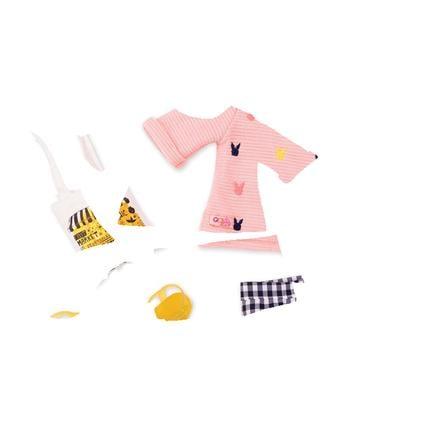 Our Generation -Outfit Kurze Karohose mit Pulli und Tasche